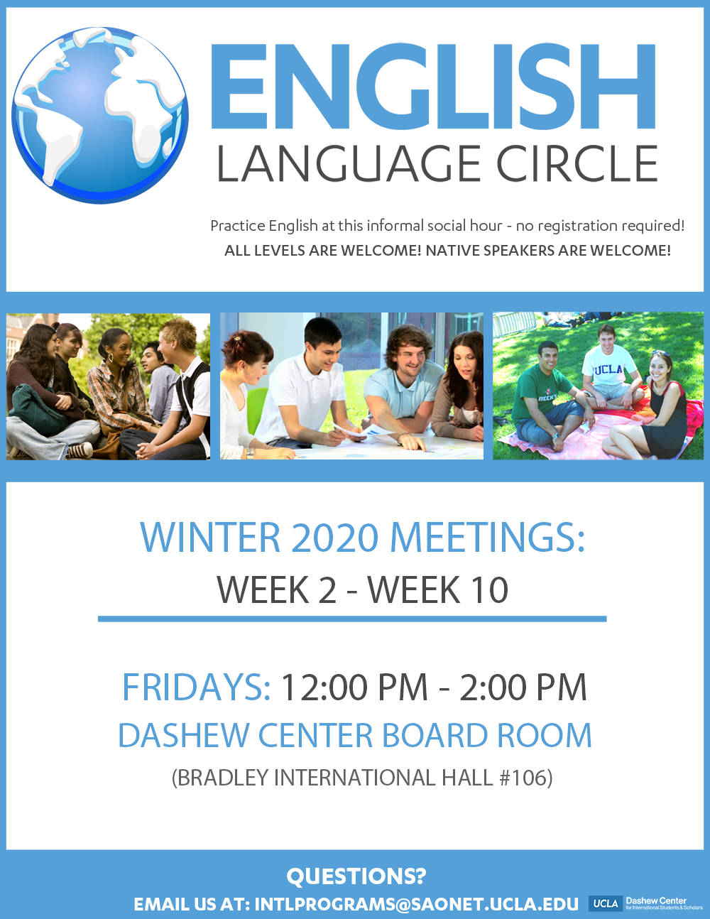 English Language Circles_Winter 2020 flyer