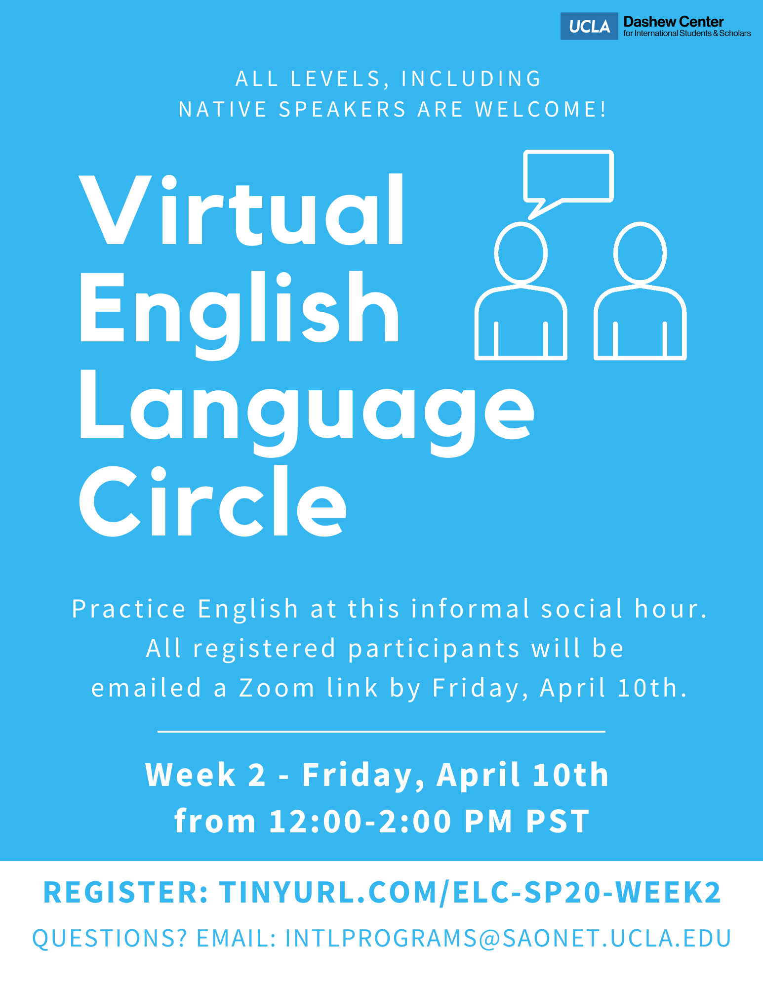 English Language Circle flyer
